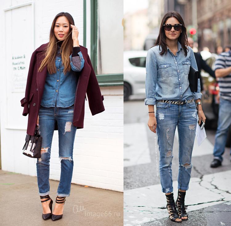 Рваные джинсы все еще популярны