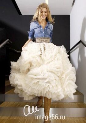 """Белая юбка """"Американка"""""""