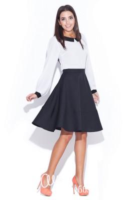 Черная юбка-полусолнце