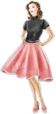 Рисованная юбка-солнце