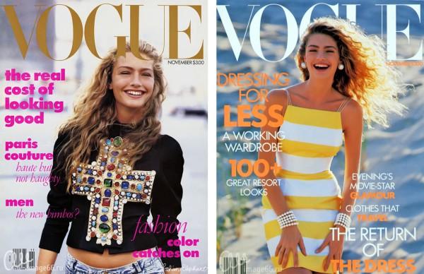 На обложках Vouge модели в летних образах