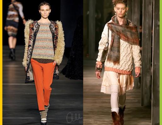 Модели в объемной зимней одежде