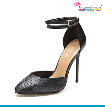 Черные туфли дорсей на каблуке