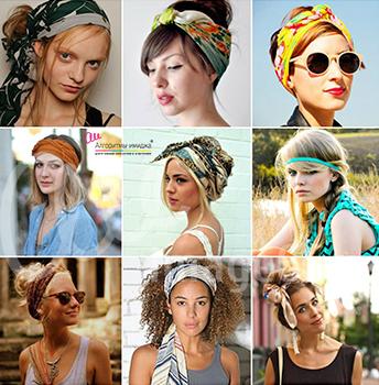 Как можно красиво завязать платок на голове
