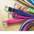 Розовый, фиолетовый, синий, оранжевый и зеленый ремни