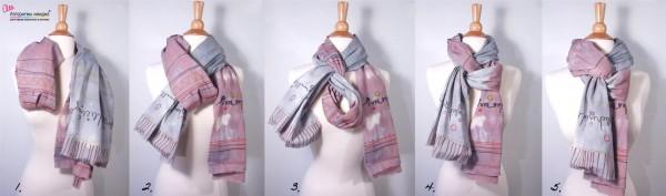 Пошаговые фотоуроки как завязать шарф