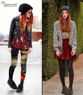 Девушки субкультурной внешности в криперах