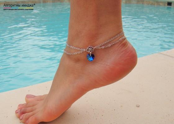 Браслет Анклет на ноге